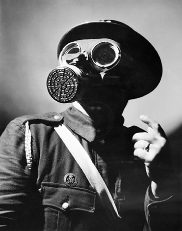 gas mask air raid warden small